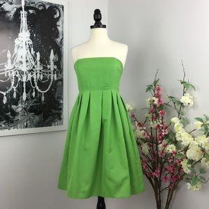 J Crew Cotton Cady Strapless Claudine Dress